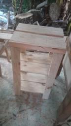 Porta sapateira  madeira pino rusrica