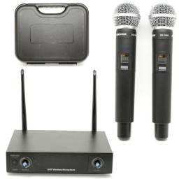 Microfone sem fio duplo