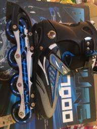 Patins Roller Inline Pro Abec-7 Alumínio B Future 7000 Azul