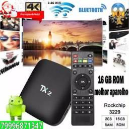 Tx2 Tv Box Android 16gb Rom 2gb Ram bluetooth Melhor Processador Promoçao