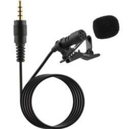 Microfone de lapela P3 para celulares e outros /1,5Mt cabo