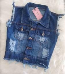 Lindo Colete Jeans - Loja Viligili - Peças incríveis no precinho !!!