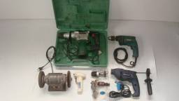 Lote de ferramentas elétricas e manuais, novas e usadas, Leia descrição