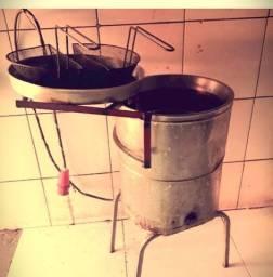 Fritadeira elétrica industrial água e óleo