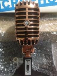 Microfone Lendário Shure Vintage 55SH II novo na caixa.