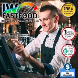 Software LWFastFood - Gestão de bares, churrascaria e restaurantes