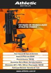Estação de Musculação Athletic Power 45 Exercicos Em Até 10X Sem Juros