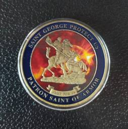Moeda medalhão sao gorje protetor S.W.A.T edição especial