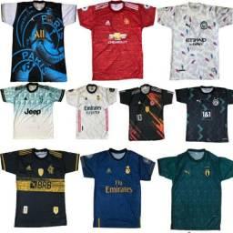 Kit Camisas de time de futebol Europeu ( tamanho G )