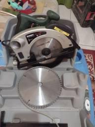 Serra circular com laser  R$ : 450, 00