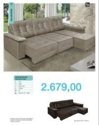 Sofa três lugares modernos 2227