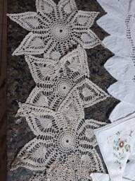 Guarnições de mesa em crochê