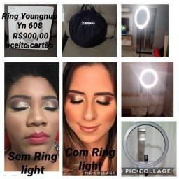 Ring light youngnuo Yn608 semi nova