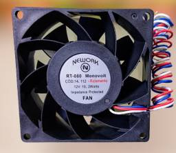 Miniventilador nework 14.112 12v 6000 rpm rol 80x80x38mm
