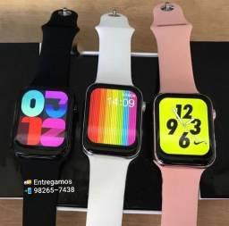 Novo Smartwatch Iwo w16 Tela infinita , Prova D'água,  Faz e recebe ligações