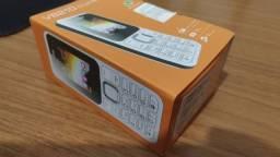 Telefone 2 chip Servo v8210 celular com dual sim, 1.77 polegadas, fm, gsm, bluetooth