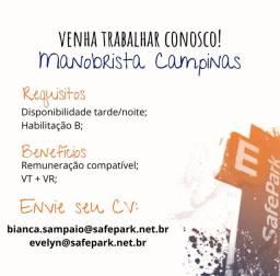 Vaga Manobrista Campinas