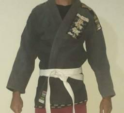 Kimono A2 Jiu Jitsu Shiroi completo com faixa e calça
