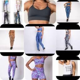 16 peças Fitness - Novas!!!( Leggings, top, conjunto, Cropped e mto mais)