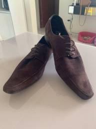 Sapato Masculino Camurça Marrom