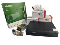 Kit Monitoramento Intelbras 4 câmeras.