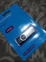 Pen drive 64 GB lacrados barbada