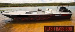 Bass boat Malloy em alumínio - barco de pesca