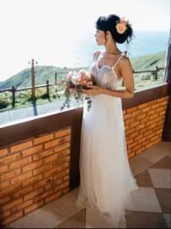 Vestido noiva praia ensaio