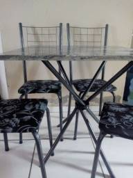 Título do anúncio: CJ.Mesa 4 Cadeiras /Tampo Granito/ - Frete Grátis