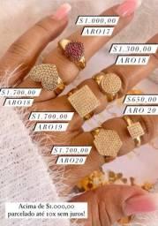 Anéis em ouro 18 disponíveis