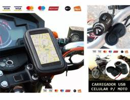 Kit Carregador Celular Usb + Suporte com Capa
