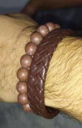 Kit masculino com 2 braceletes