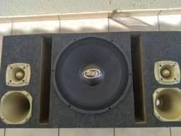Vendo caixa trio falante 15 potência power one