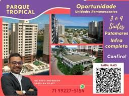 Título do anúncio: 3 suítes , Varanda Gourmet , Patamares , Parque Tropical , 2 vagas , 113m²