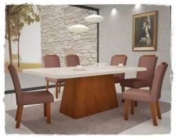 Mesa Vicenza com 6 Cadeiras Preço Fábrica