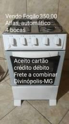 Vendo Fogão 350,00 acendimento automático 4 bocas (037) 9  *