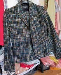 Lindo blazer feminino estampado quessada