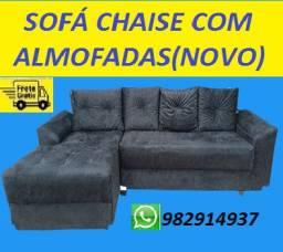 Preço Super Especial de Lindo Sofa Chaise 3 Lugares Com Almofadas Apenas 799,00