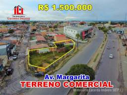 Terreno Comercial na Av Margarita, 495m², Farmácia, Deposito, Loja