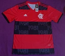 Camisa do Flamengo rubro-negra 2021 (disponível: GG)