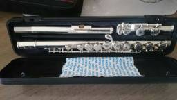 Flauta Transversal YFL-211WC Yamaha (com estojo luxo e bolsa)