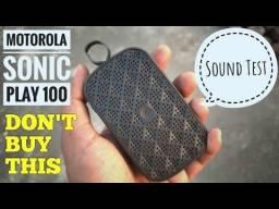 Caixa de Som Para Smartphone via Bluetooth, Motorola Sonic Play 100, 100%original