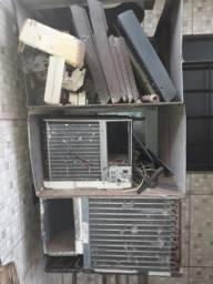 Dois Ares Condicionados Peças Conserto Compressor Ok