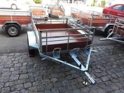 Carreta 3 motos galvanizada