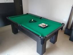 Mesa de Bilhar com Tecido Verde e Cor Preta Mod OASL04920