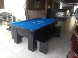 Mesa Carlin | Mesa Preta | Tecido Azul | Raposa Cruzeiro | Modelo: FZJV3766
