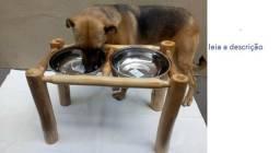 Yorkshire Terrier Comedouro Bebedouro Pet Em Madeira Cães Gatos Animais de Estimação
