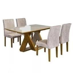 Oferta! Mesa de Jantar Bella 4 cadeiras - Pagamento na entrega peça já