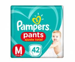 5 pacotes pampers pants M