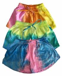 Kit 3 Shorts Tie Dye Adulto
